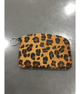 Monedero animal print marrón